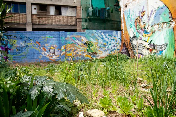 Detalle del mural, Huerto del Xino