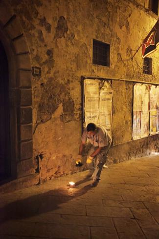 Il corteo dei Ceri a Montepulciano