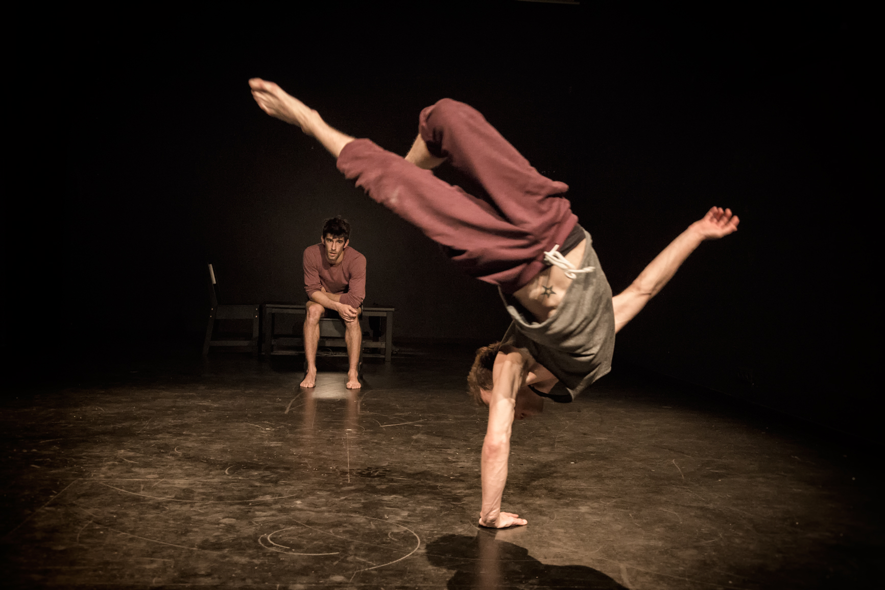 Fotografiando a acrobacias en teatro
